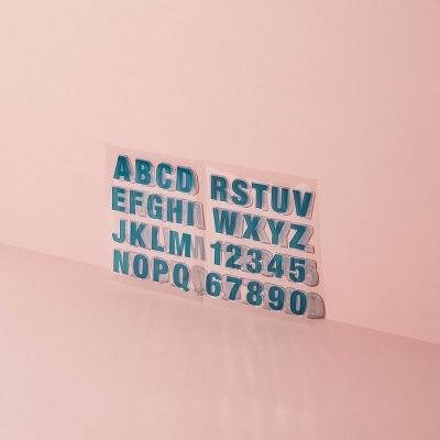 Silikonstempel großes Alphabet und Zahlen