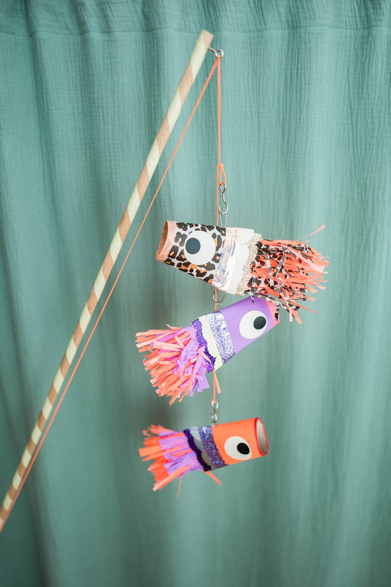 Fischfreunde aus Klopapier basteln