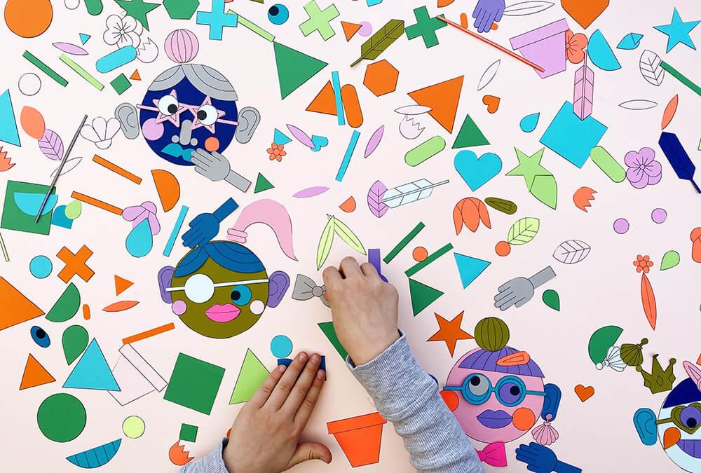 Collage basteln mit Kindern – die lustigen Druckvorlagen sind da!