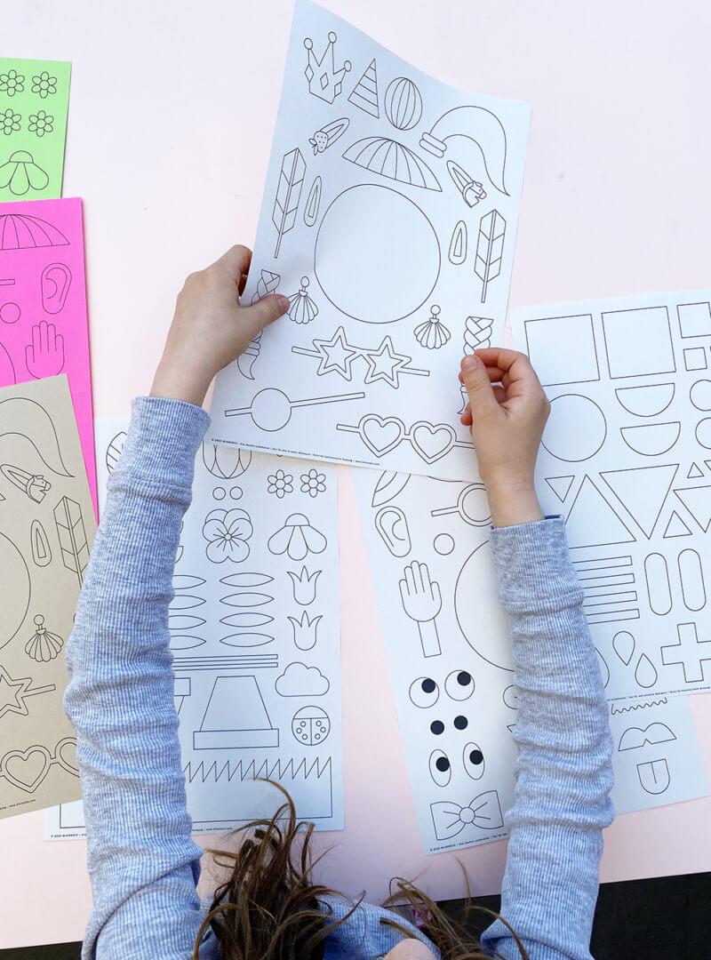 Kinder Collage – PDF Vorlage zum Ausdrucken