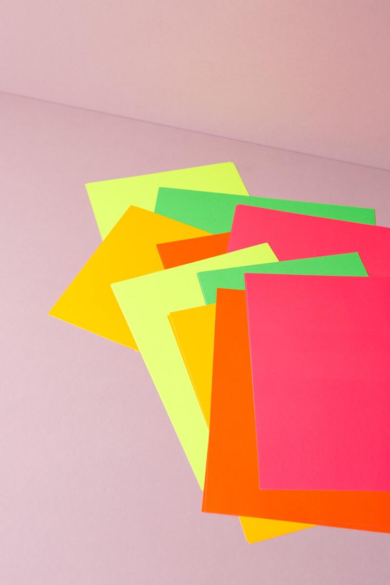 Bastelpapier Neon