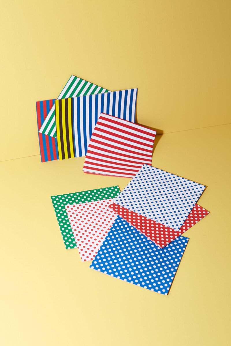 Origami Papier Streifen und Punkte