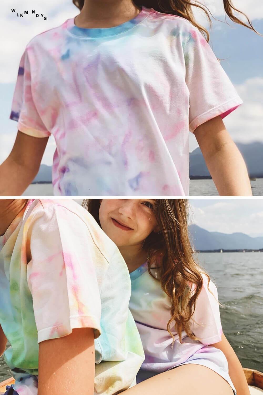Batik mit Seidenpapier – ein tolles DIY für Kids im Sommer!