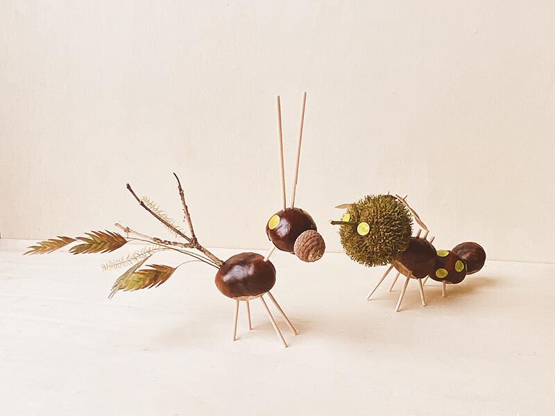 Basteln mit Kastanien und den schönsten Herbstschätzen