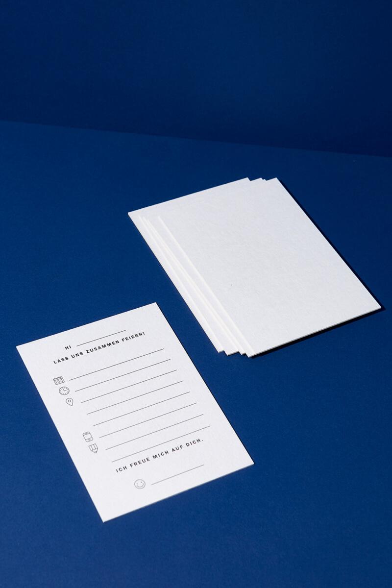 Einladungskarten Set Blanko