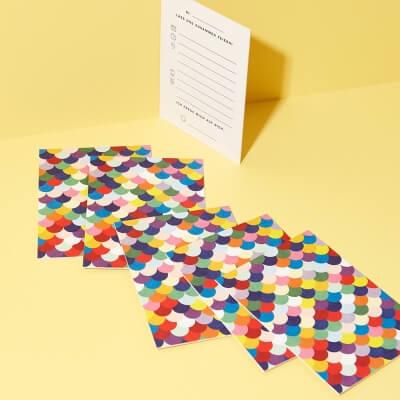 Einladungskarten Set Muschel