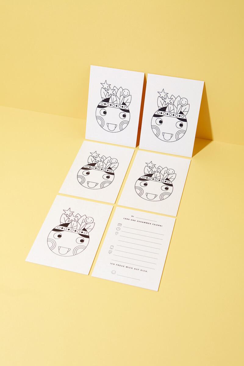 Einladungskarten Set Tiny Artist