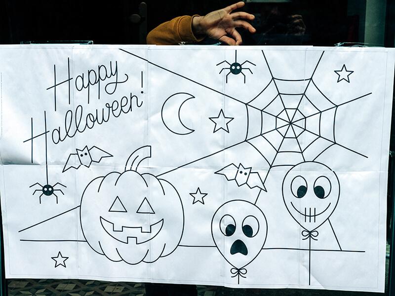 Die neue Halloween Fensterbild Vorlage ist da!