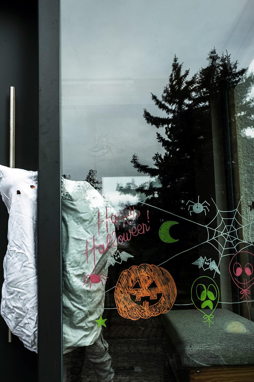 Halloween Fensterbild Vorlage