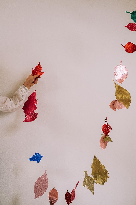 Blätter Girlande basteln