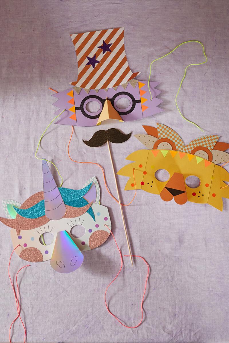 DIY Masken Zirkus
