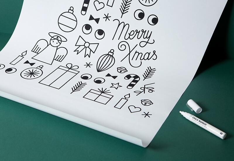 Ho Ho Ho: Die Vorlage für das Weihnachtsfenster ist da!