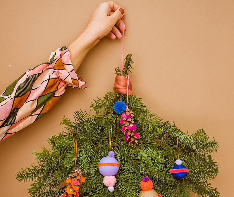 O du fröhliche: Knallbunten Weihnachtsbaumschmuck basteln