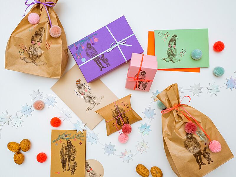 Ganz schön persönlich: Weihnachtsgeschenke verpacken plus tolle Weihnachtspost