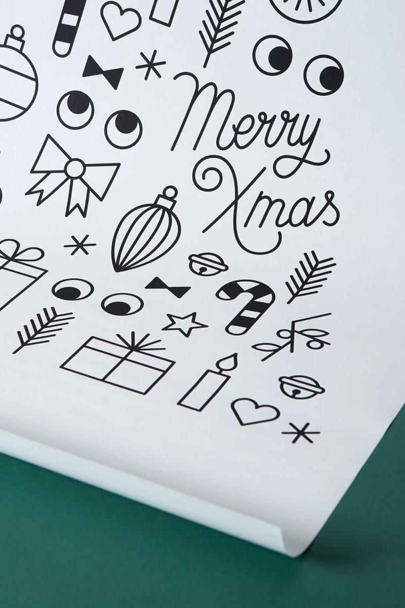 Fensterbild Weihnachtsbaum