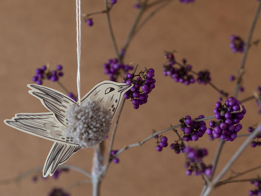 Pompon Vögel basteln