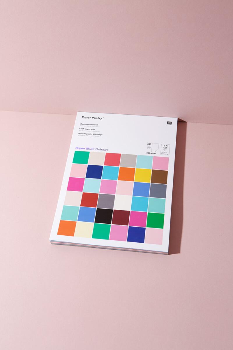 Super Colour Bastelpapierblock 300 g