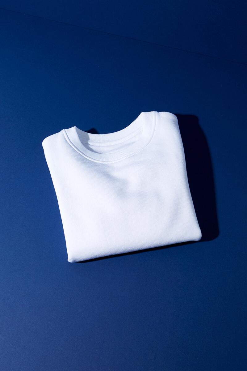 Rundhals Sweatshirt Weiß Kinder
