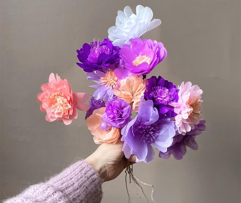 Step by Step und mit Druckvorlage: Wir lernen Papierblumen basteln!