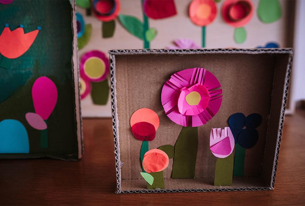 Blumencollage basteln