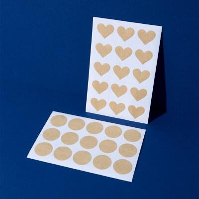 Kraftpapier Sticker