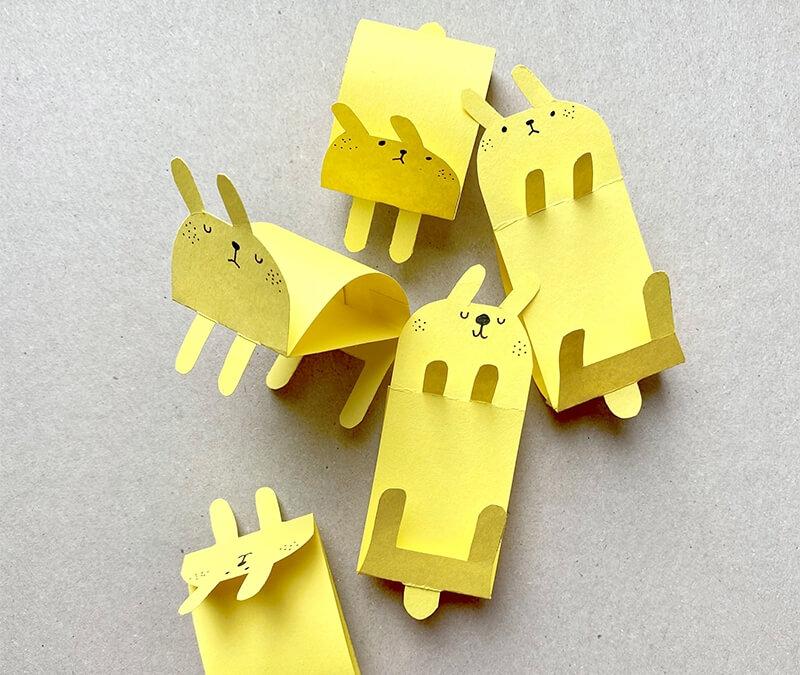 Eine Hasenparade basteln – Mit easypeasy Druckvorlage