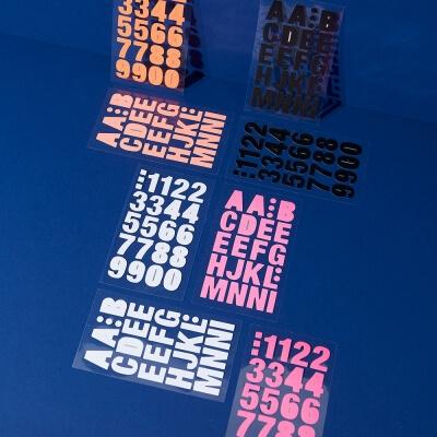 Stickerset Buchstaben Zahlen