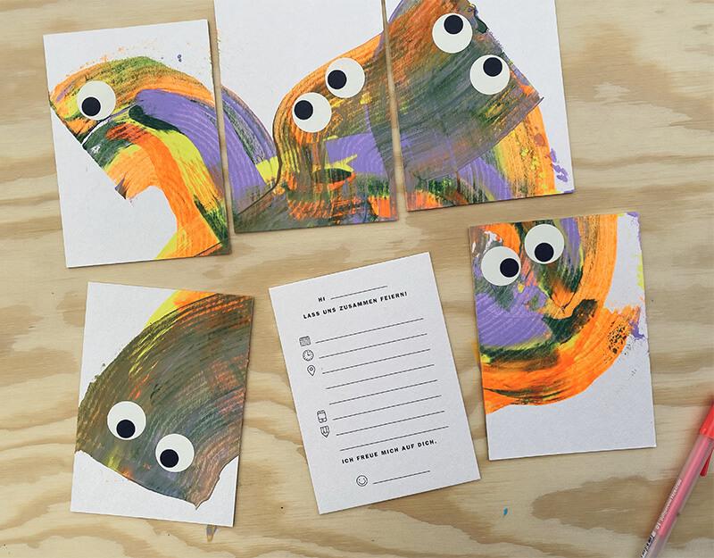 Einzigartig kreative Einladungskarten zum Kindergeburtstag basteln