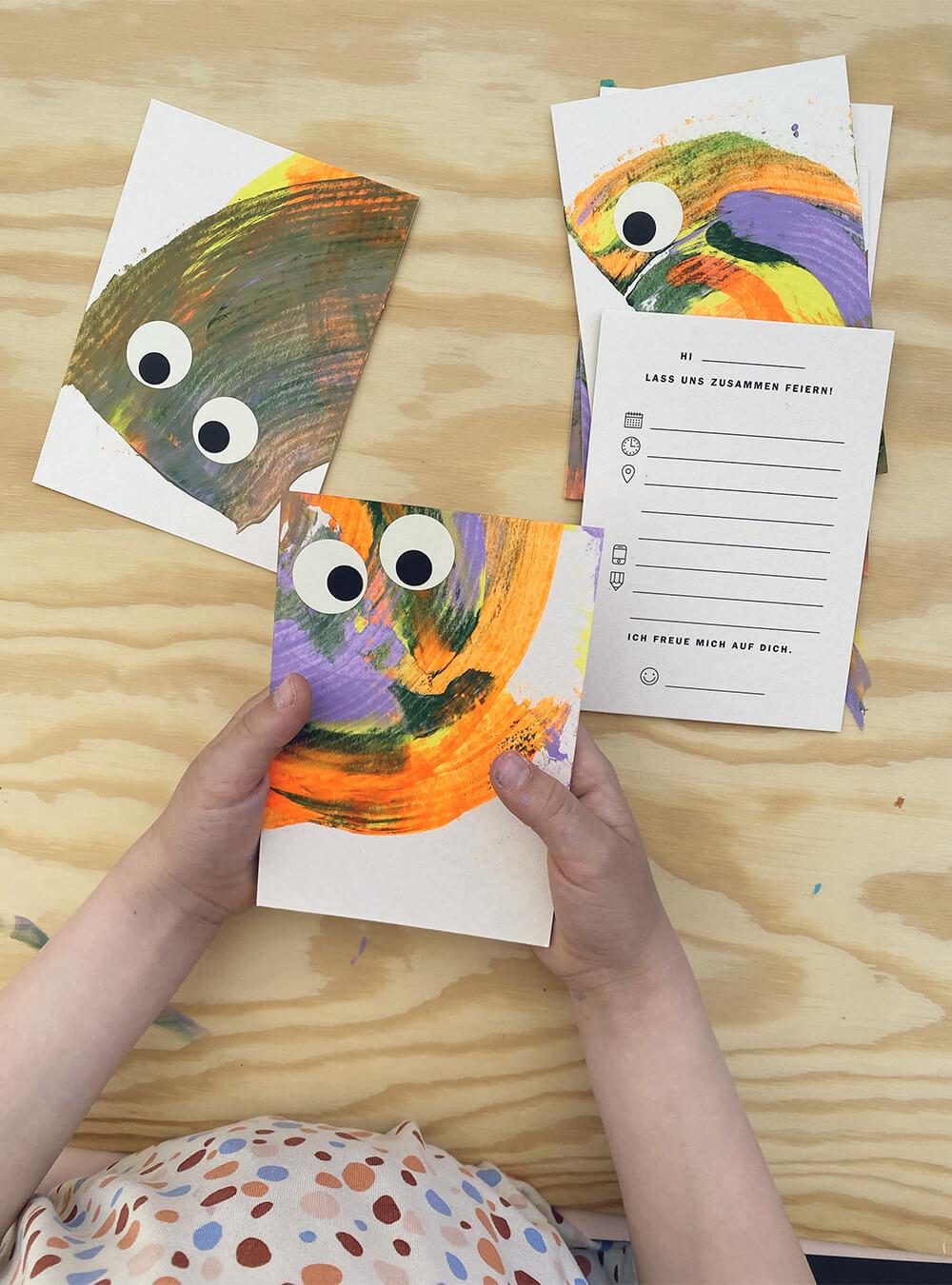 Einladungskarten zum Kindergeburtstag basteln