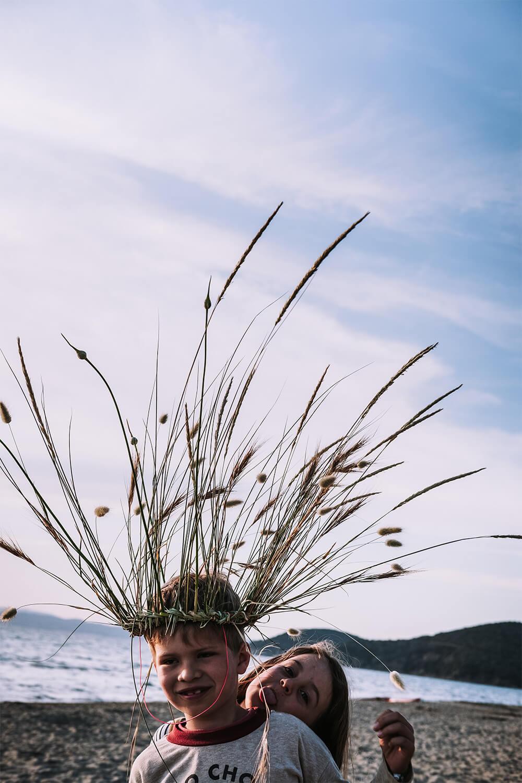 Gräserkrone basteln