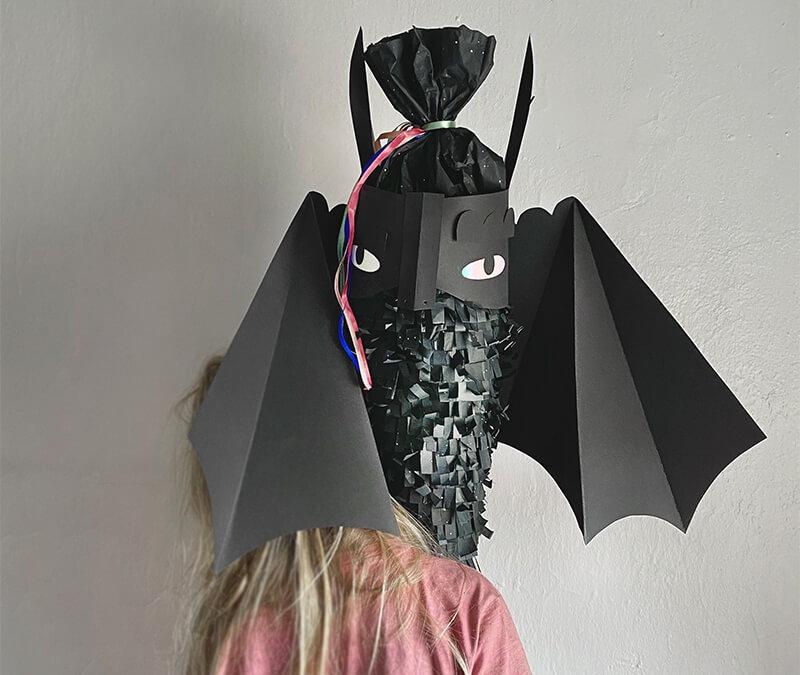 Die einzigartigste Fledermaus Schultüte mit Druckvorlage basteln