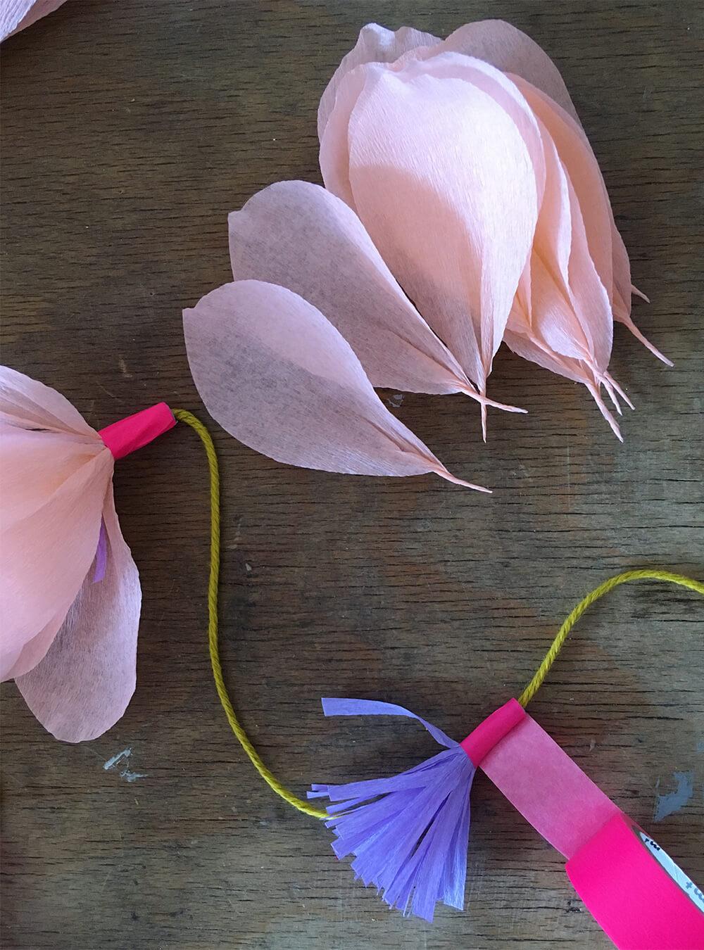 Blumen Girlanden Basteln