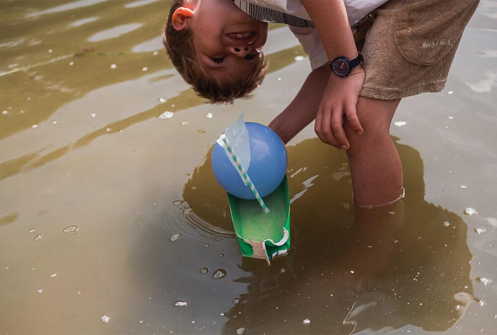 Boote basteln mit Kindern