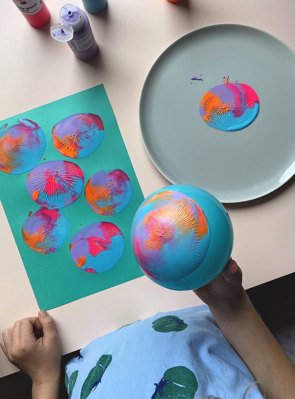 Stempeln mit Ballons
